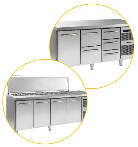 benchtop refrigeration combos